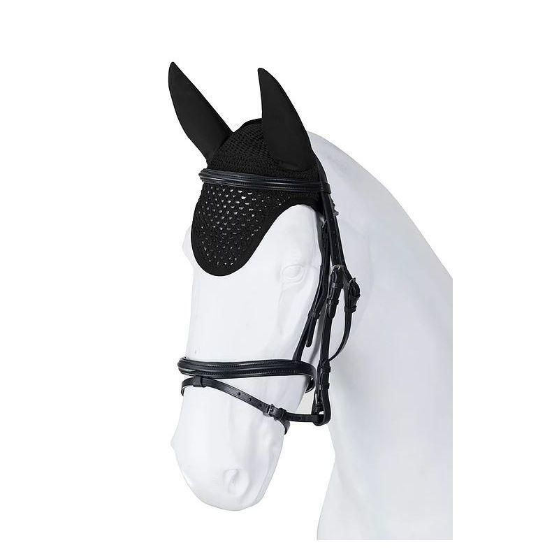 Bonnet anti-mouche cheval Torpol tricoté main - Le Paturon