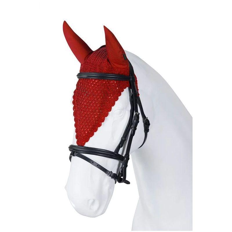 Bonnet anti mouche cheval long tricoté main Torpol - Le Paturon