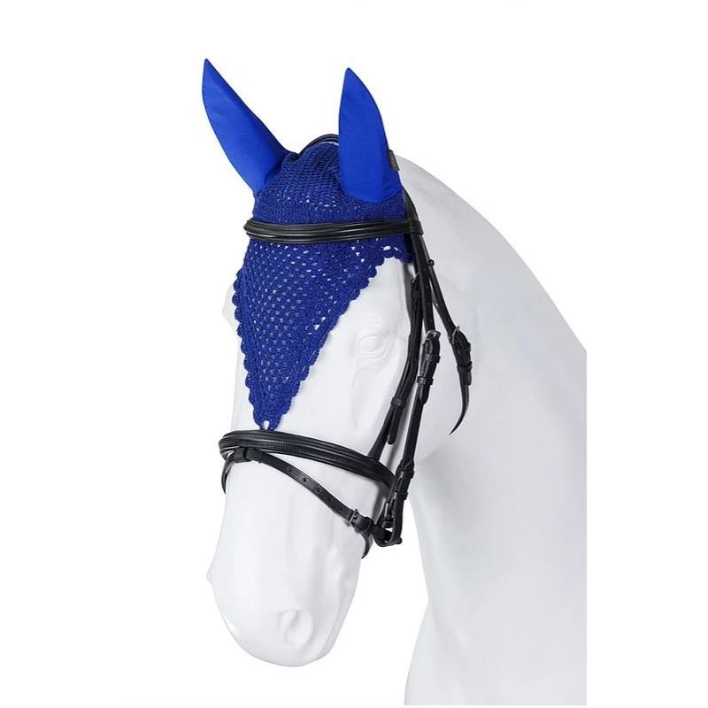 Bonnet anti mouche cheval long tricoté main Torpol - Le Paturon