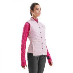 1 Doudoune sans manches femme Horse Pilot Rider Vest rose - Le Paturon