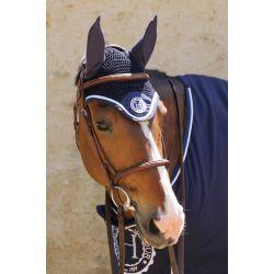 2 Bonnet anti-mouche cheval Harcour Capitaine Rider - Le Paturon