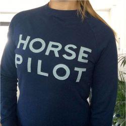 Summer Horse Pilot Sweat Femme marine - Le Paturon