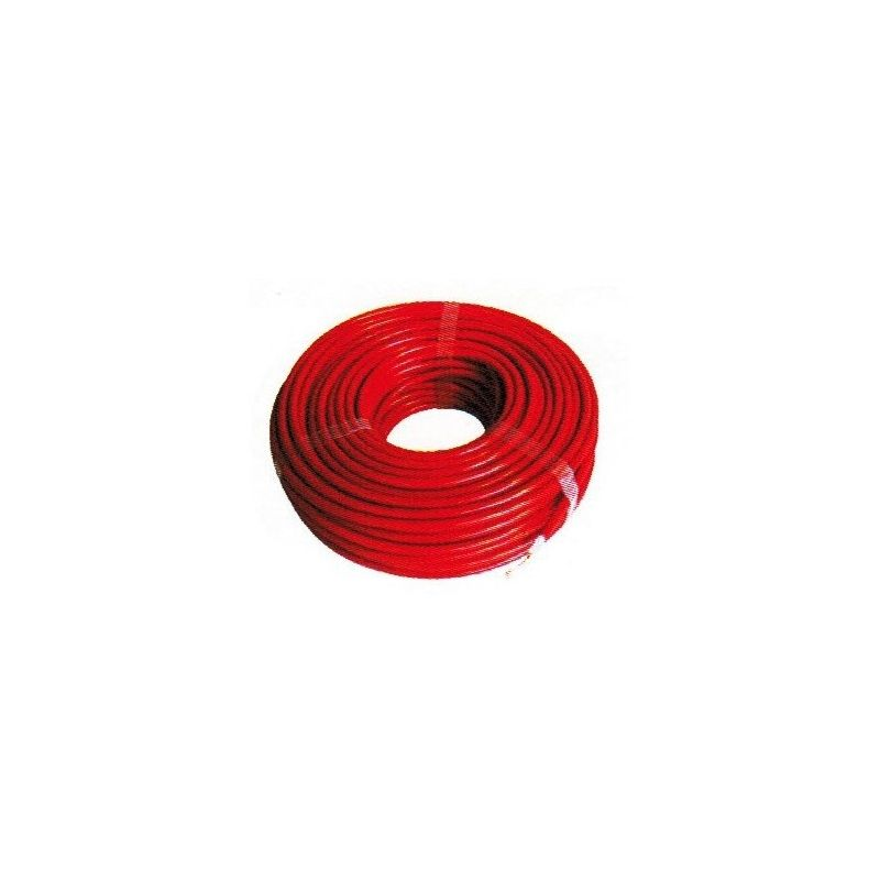 Cable rouge isole haute tension bobine de 25 m - Le Paturon