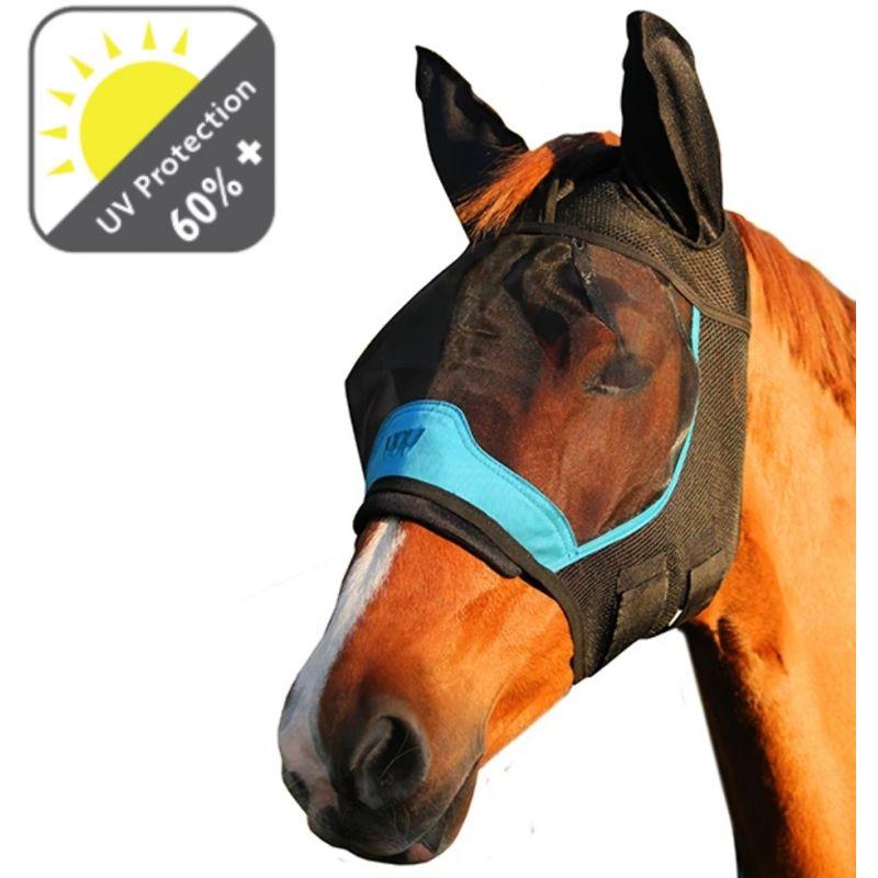 1 Masque cheval anti-mouche anti-uv Woof Wear avec oreilles - Le Paturon