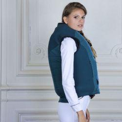 1 Gilet sans manches Femme Oscar et Gabrielle Kloe (compatible airbag) emeraude - Le Paturon
