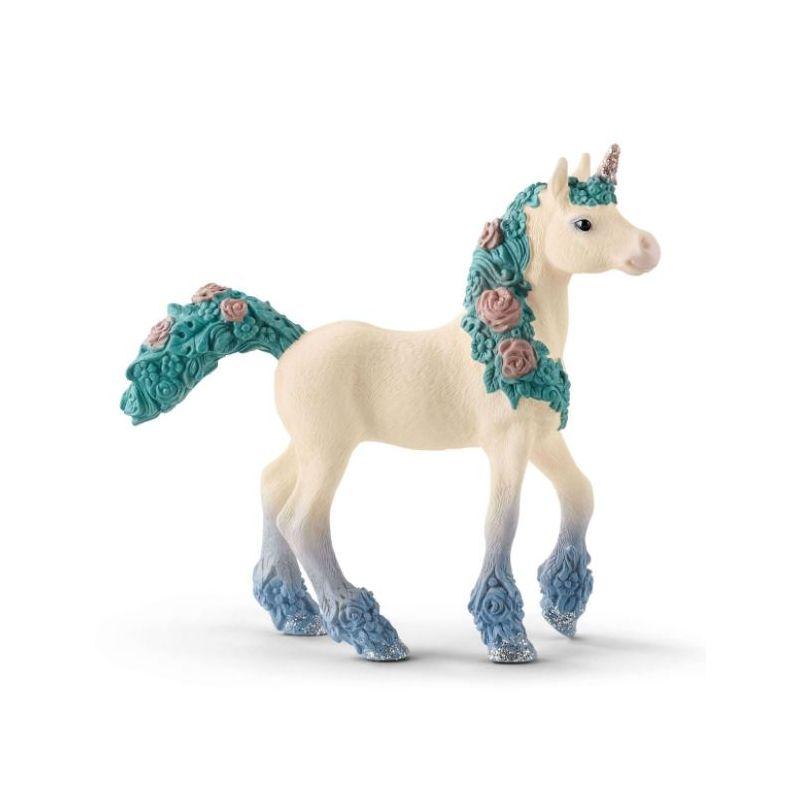 Figurine poulain de licorne aux fleurs Schleich