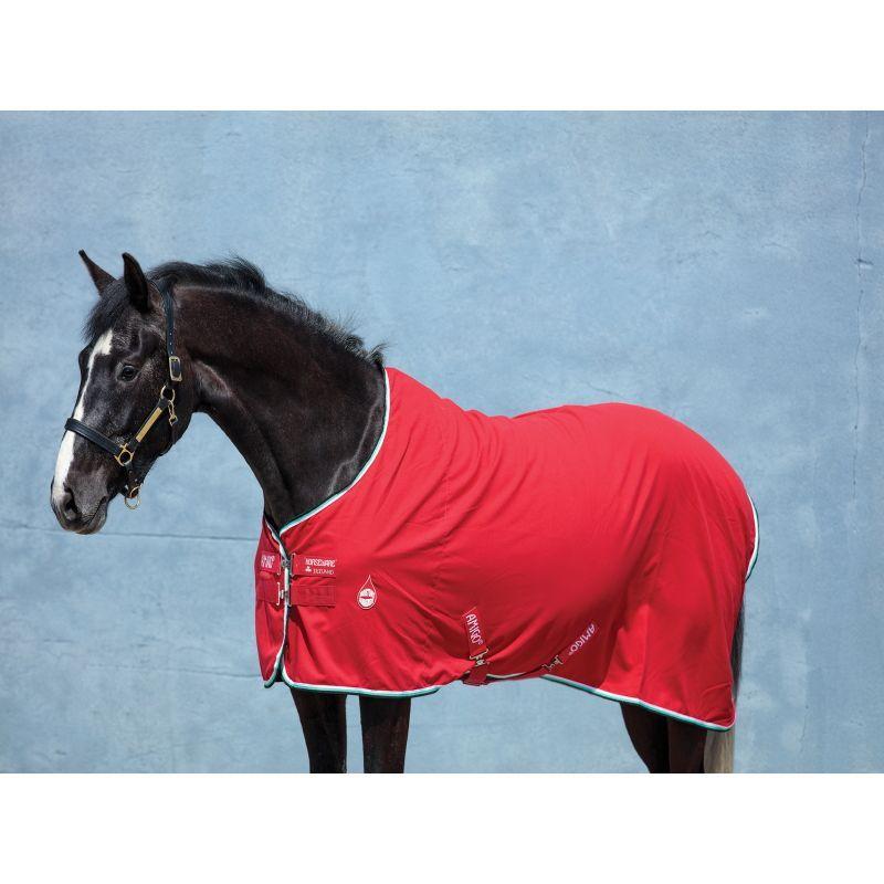 Couverture cheval Amigo Stable Horseware écurie transport Rouge