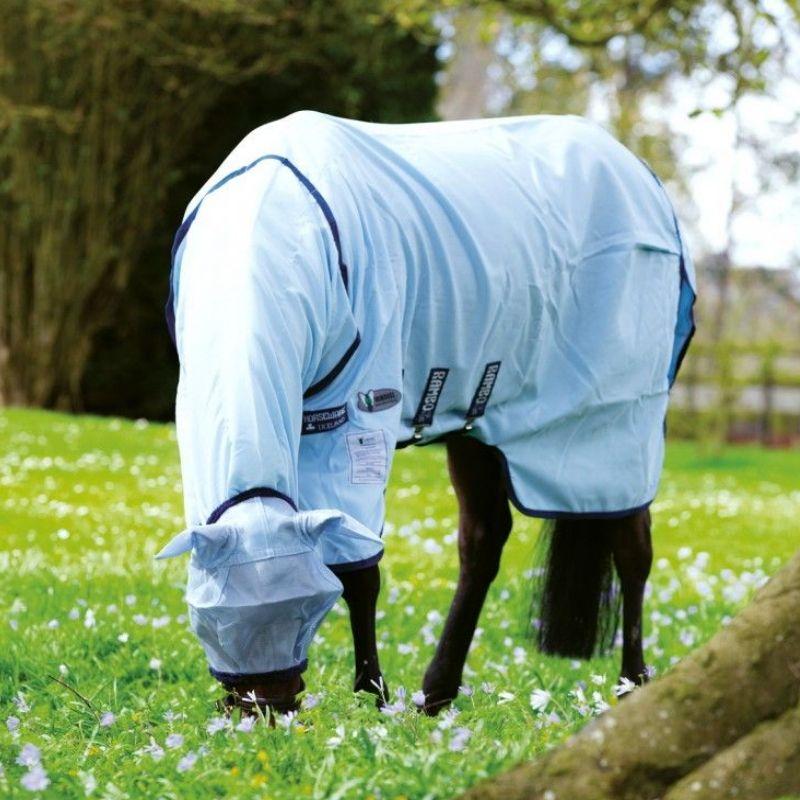 Couverture anti-mouche cheval avec cou imprégnée Vamoose Rambo Sweet Itch Hoody Horseware - Le Paturon