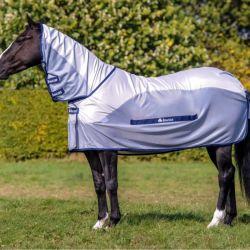 Couverture anti-mouche cheval imperméable Couvre-cou Buzz-off Rain Neck Bucas - Le Paturon