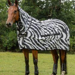 Couverture anti-dermite cheval Sweet Itch Zebra Bucas - Le Paturon