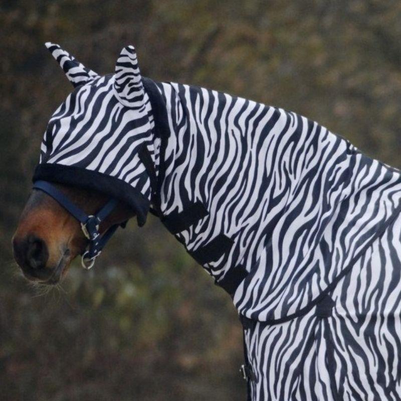 Camail anti mouche cheval Zebra Waldhausen - Le Paturon