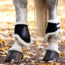 Protège-boulets cheval Waldhausen doublés mouton véritable - Le Paturon