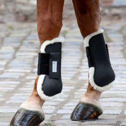 Protège-tendons cheval Waldhausen doublés mouton véritable - Le Paturon
