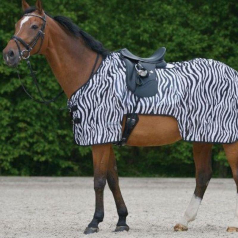 Couvre-reins anti-mouche cheval Zebra Waldhausen - Le Paturon