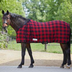 Chemise polaire cheval Bucheron à carreaux Waldhausen - Le Paturon