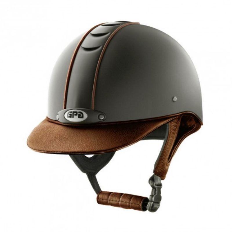 Casque équitation Titium Leather GPA - Le Paturon