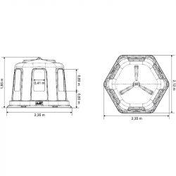 Râtelier cheval résine hexagonal La Gée avec fond grand modèle