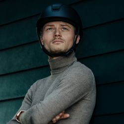 Casque équitation Shadow Matt Collection Samshield marine - Le Paturon