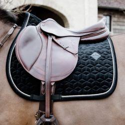 Tapis Velvet noir Basic cheval dressage et jumping en velours  Kentucky - Le Paturon