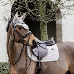 Tapis Velvet Basic cheval dressage et jumping en velours Kentucky - Le Paturon