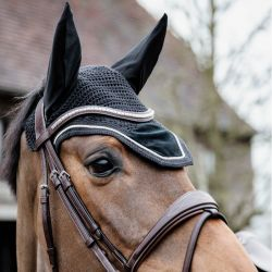 Bonnet anti-mouches Wellington Velvet Basic cheval Kentucky - Le Paturon