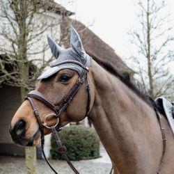 Bonnet anti-mouches Wellington Velvet Basic cheval Kentucky - Le Paturon