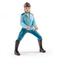 Figurine cavalière de compétition turquoise Schleich - Le Paturon