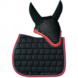 Tapis Chantilly & Bonnet Diamant Rider Harcour Pack Noir rouge - Le Paturon