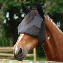 Masque anti-mouches cheval Midi anti-UV avec oreilles Equilibrium