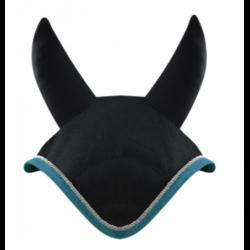 Bonnet anti-mouche Woof Wear Color Fusion cheval ergonomique bleu acier - Le Paturon