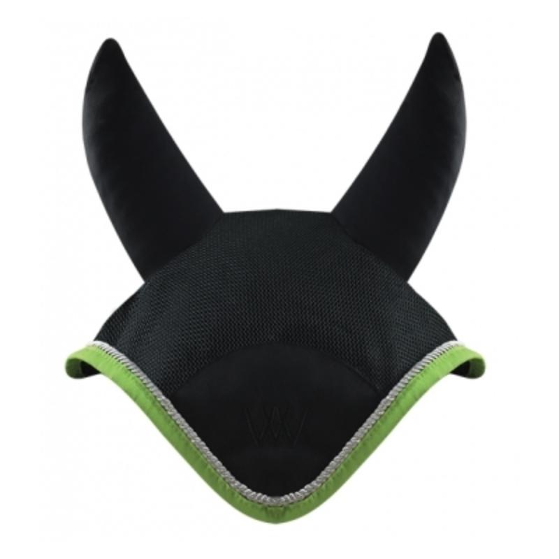 Bonnet anti-mouche Woof Wear Color Fusion cheval ergonomique vert citron - Le Paturon