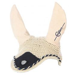Bonnet anti-mouche cheval Covalliero Collection beige - Le Paturon