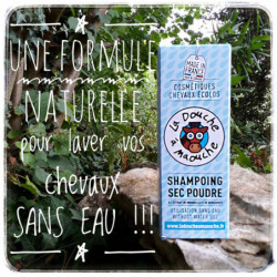 Shampoing cheval sec La douche à Maouche poudre - Le Paturon