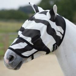 Masque anti-mouche et anti-UV cheval Bucas Zebra Buzz Off intégral - Le Paturon
