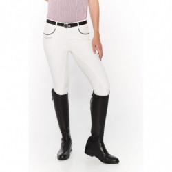 Pantalon équitation femme Harcour Barcelone Full Seat blanc - Le Paturon