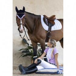 Tapis cheval Harcour Selwyn blanc - Le Paturon