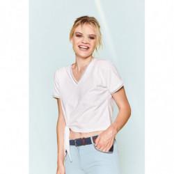 T-shirt femme Harcour Cairns blanc - Le Paturon