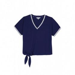 T-shirt femme Harcour Cairns marine - Le Paturon
