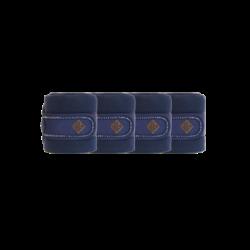 Bandes de polo Kentucky Pearls cheval par pack de 4 marine - Le Paturon