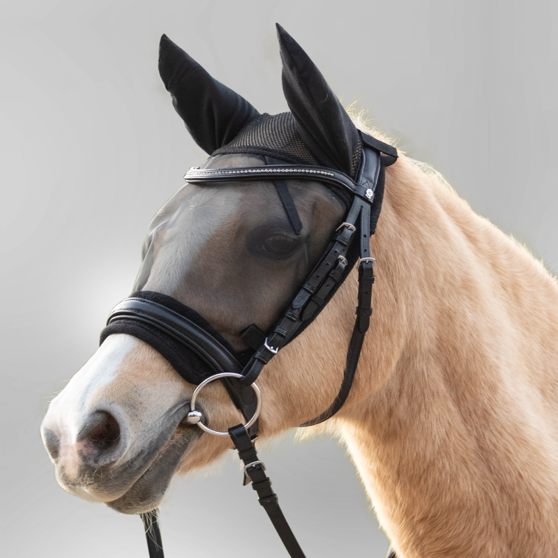 Masque anti-mouche travail cheval Waldhausen Ride - Le Paturon