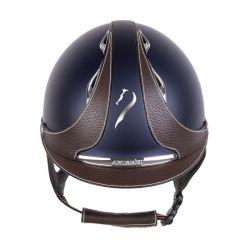 Galaxy Antarès Casque équitation marine marron - Le Paturon