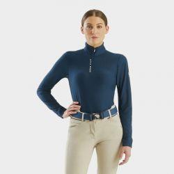 Suntech Horse Pilot Tee-shirt Femme marine - Le Paturon