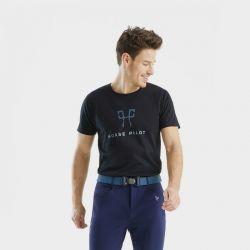 T-shirt Team Horse Pilot homme noir - Le Paturon