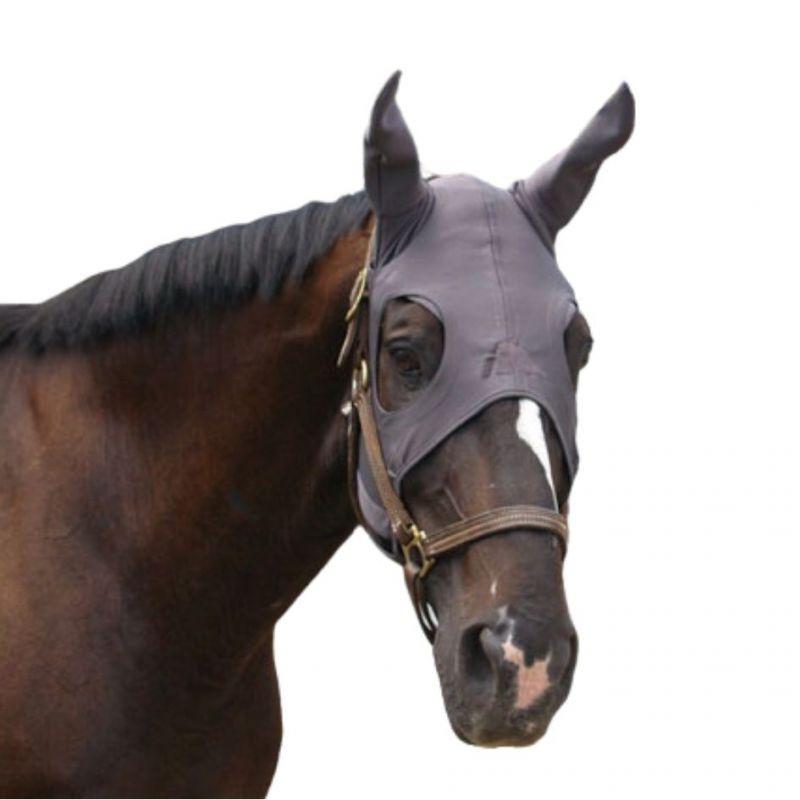 Masque anti stress cheval Fenwick Titane liquid avec oreilles  - Le Paturon - Masque anti mouche cheval