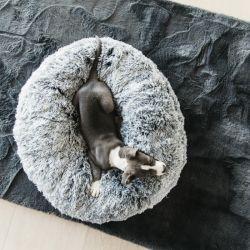 Panier chien Kentucky beignet confort gris - Le Paturon