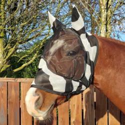 Masque anti-mouches cheval Bucas Buzz Off Zebra anti-UV avec oreilles - Le Paturon
