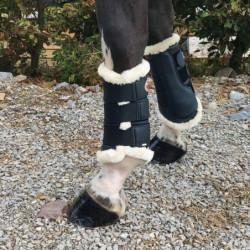 Guêtres dressage cheval Bucas mouton noir - Le Paturon