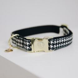 Collier Kentucky chien Pied-de-poule noir - Le Paturon