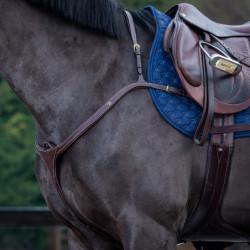 Collier de chasse Dy'on Collection cheval à long pont noisette - Le Paturon