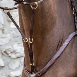 Fourchette de martingale Dy'on Collection cheval à anneaux noisette - Le Paturon